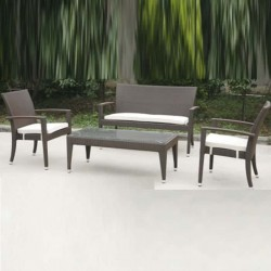Double Rattan Knitted Cafe Restaurant Hotel Chair
