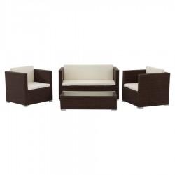 Brown Color Rattan Armchair