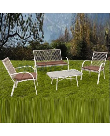 Rattan Braided Seating Group