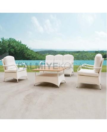 Rattan Triple Knitted Sofa Set
