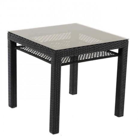 Four Leg Glass Rattan Table - alcm1013c