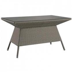 Gray Rattan Knitting Table