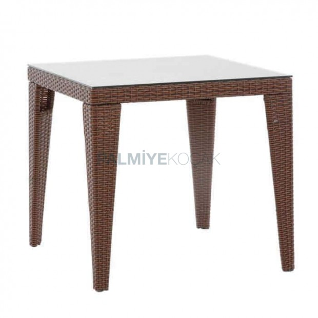 Square 80x80cm Rattan Knitting Garden Table