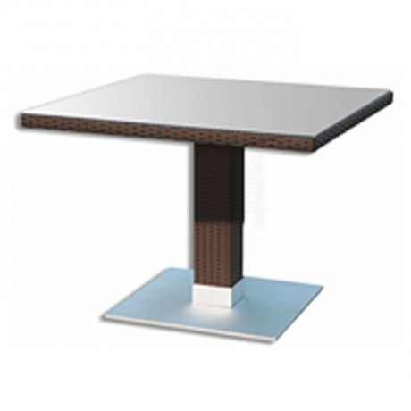 Rattan Garden Table with Square Table Top - rtbm6525