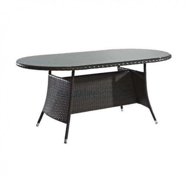 Dark Brown Round Rattan Table