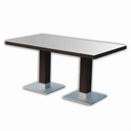Rectangular Rattan Table with Center Leg - rtbm6524