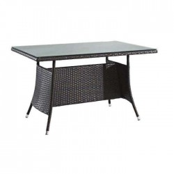 Rattan Knitting Dark Color Cafe Table