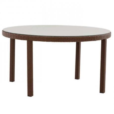 Round Four Leg Rattan Table - alcm1019b