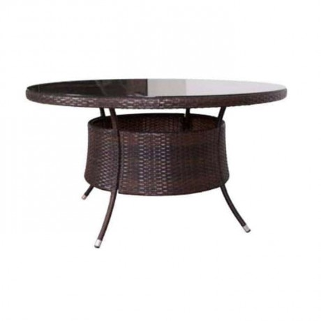 Round Hotel Rattan Table - rmy9093