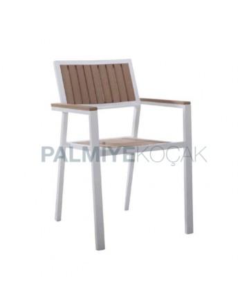 Aluminum Cafe Garden Arm Chair