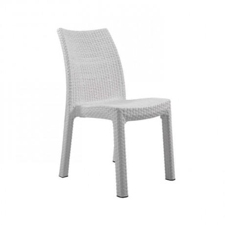 Beyaz Örmeli Rattan Bahçe Sandalyesi - rtm104