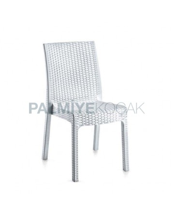 White Rattan Injection Cafe Chair