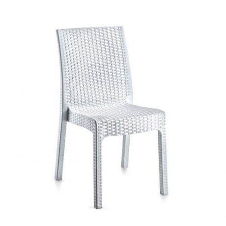 White Rattan Injection Cafe Chair - tpi9898