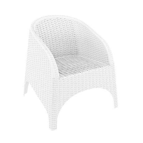 White Rattan Injection Armchair - tps9907