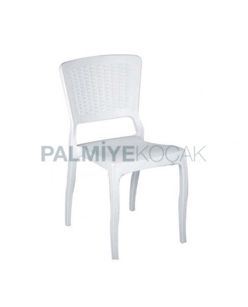 Beyaz Rattan Enjeksiyon Restoran Sandalyesi