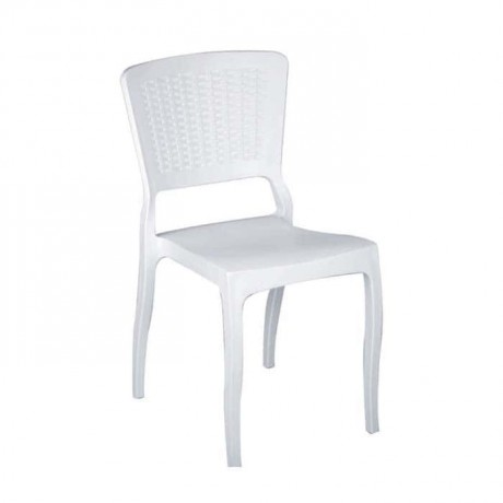 White Rattan Injection Restaurant Chair - tps9792