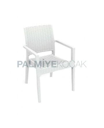 White Rattan Winter Garden Chair