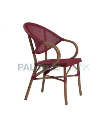 Bordeaux Mesh Bamboo Arm Chair