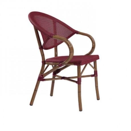 Bordeaux Mesh Bamboo Arm Chair - rtm086