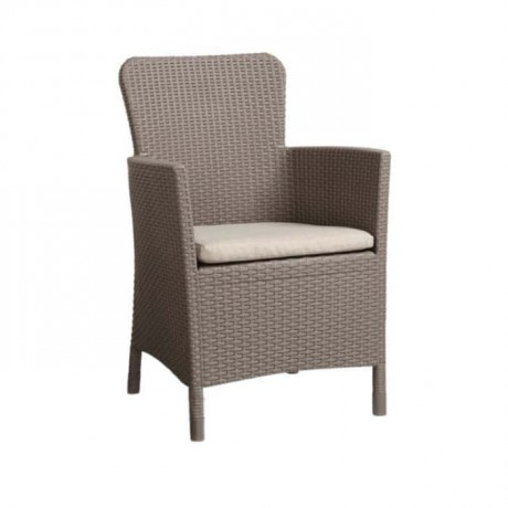 Cappuccino Rattan Injection Hotel Arm Chair - tbs2568