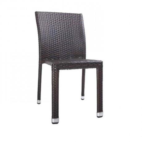 Kahve Rattan Bahçe Sandalyesi - rtb510