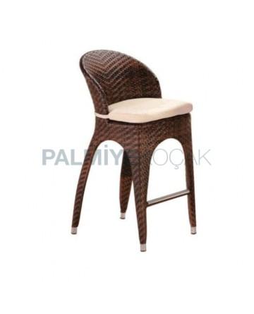 Brown Rattan Bar Chair