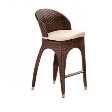 Brown Rattan Bar Chair - rtm105