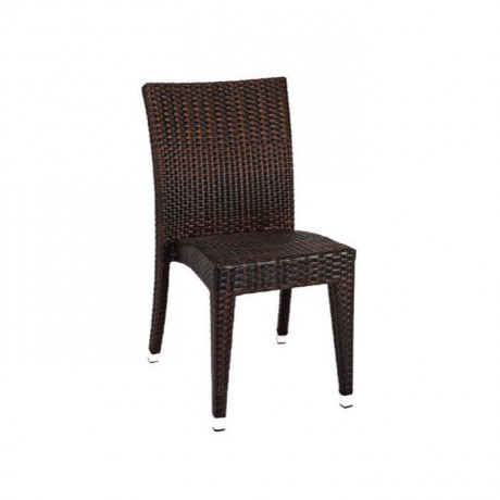Brown Rattan Cafe Winter Garden Chair - rtm096