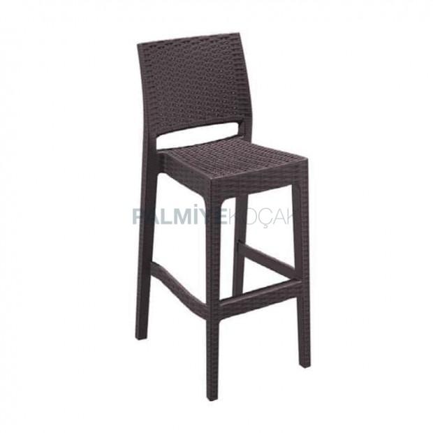Brown Rattan Injection Bar Chair