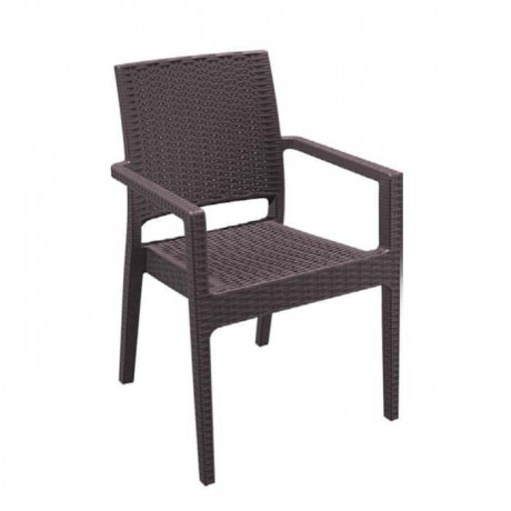 Kahve Rattan Enjeksiyon Otel Bahçesi Sandalyesi - tps9903