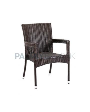 Brown Rattan Hotel Winter Garden Arm Chair