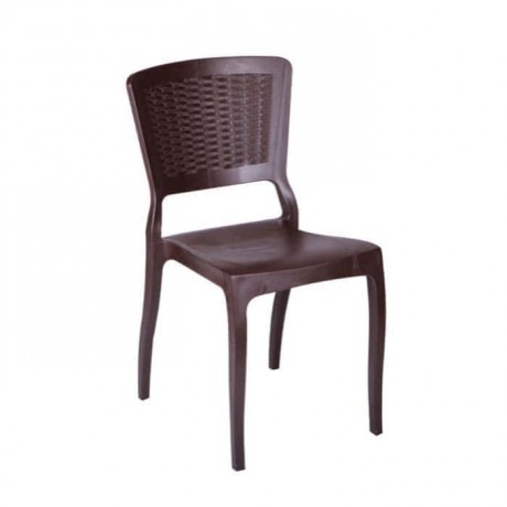 Brown Rattan Color Injection Restaurant Chair - tps9791