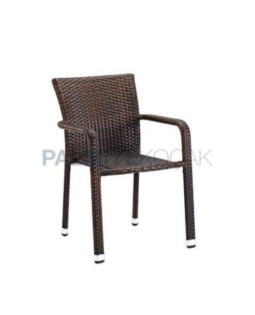 Brown Rattan Restaurant Chair