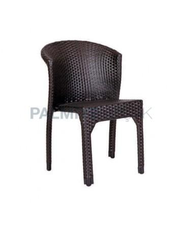 Kahve Renkli Alüminyum Kollu Cafe Sandalyesi