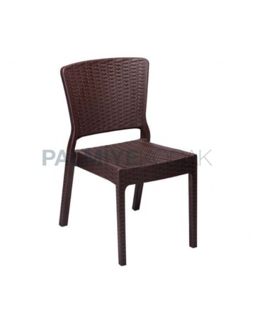 Brown Color Injection Garden Chair