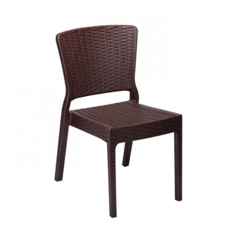 Brown Color Injection Garden Chair - tps9890