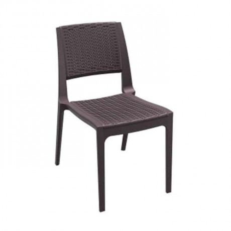 Brown Color Rattan Injection Balcony Chair - tps9902