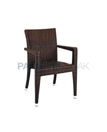 Brown Rattan Cafe Winter Garden Chair
