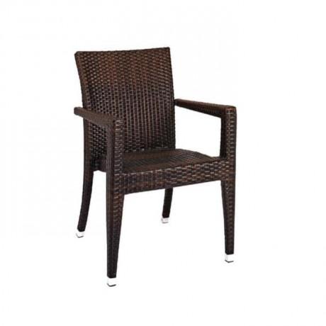 Kollu Rattan Cafe Kış Bahçesi Sandalyesi - rtm097