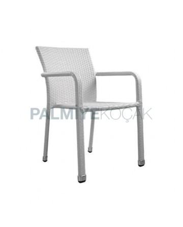 Rattan White Chair