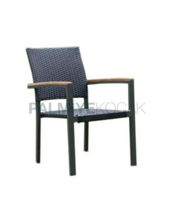 Rattan Cafe Garden Arm Chair