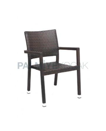 Rattan Coffee Restaurant Winter Garden Arm Chair