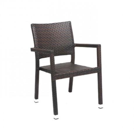 Rattan Kahve Kollu Restoran Kış Bahçesi Sandalyesi - rtm098