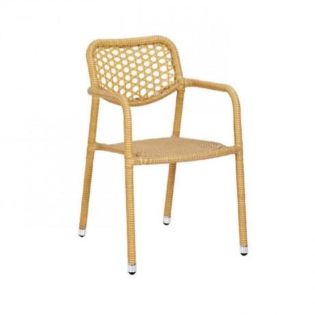 Yellow Rattan Arm Chair - rtm080