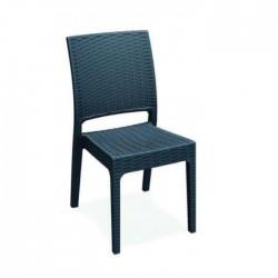 Black Injection Restaurant Garden Chair