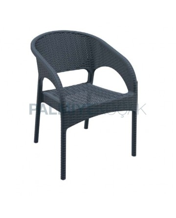 Siyah Kollu Dış Mekan Bahçe Sandalyesi