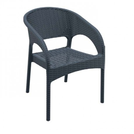 Outdoor Garden Chair with Black Arm - tps9901