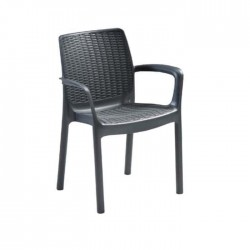 Black Plastic Garden Arm Chair