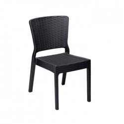 Black Rattan Injection Cafe Garden Chair