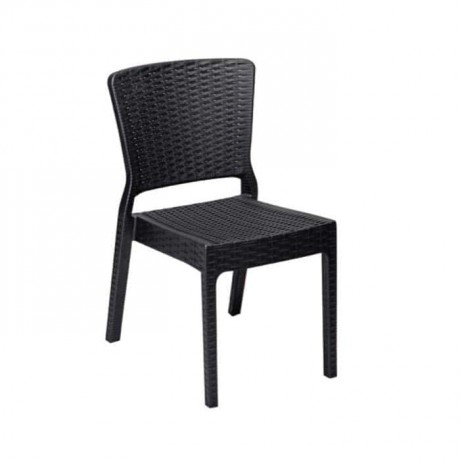 Black Rattan Injection Cafe Garden Chair - tps9894
